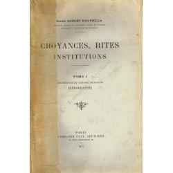 Croyances, Rites, Institutions