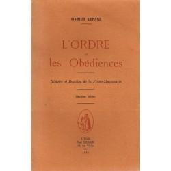 L'Ordre et les Obédiences -...