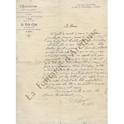 Une lettre autographe signée