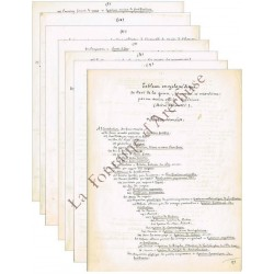 Deux manuscrits originaux à...