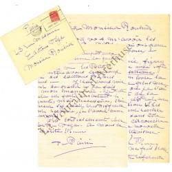 Une lettre autographe...