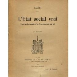 L'Etat social vrai. Vues...
