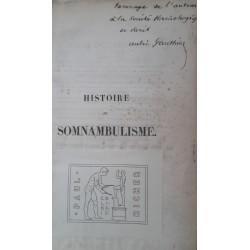 Histoire du somnambulisme...