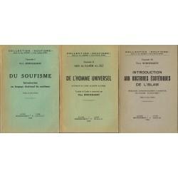 3 fascicules : Du soufisme,...