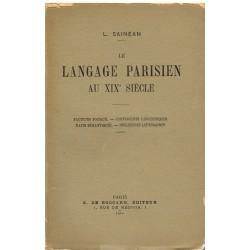Le langage parisien au XIXe...