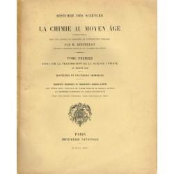 La Chimie au Moyen Age...