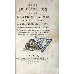 De la superstition et de...