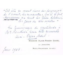 Roger Godel, De l'humanisme...