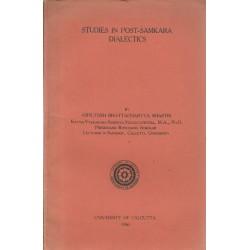 Studies in Post-Samkara...